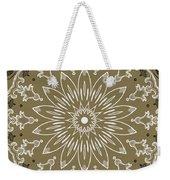 Coffee Flowers 11 Olive Ornate Medallion Weekender Tote Bag
