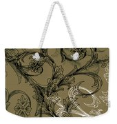 Coffee Flowers 3 Olive Weekender Tote Bag