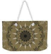 Coffee Flowers 3 Olive Ornate Medallion Weekender Tote Bag