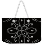 Coffee Flowers 4 Bw Ornate Medallion Weekender Tote Bag