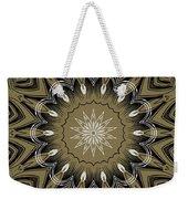 Coffee Flowers 4 Olive Ornate Medallion Weekender Tote Bag