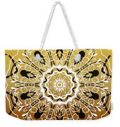 Coffee Flowers 5 Calypso Ornate Medallion Weekender Tote Bag
