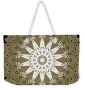 Coffee Flowers 9 Olive Ornate Medallion Weekender Tote Bag