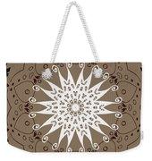 Coffee Flowers 9 Ornate Medallion Weekender Tote Bag