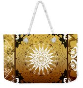 Coffee Flowers Medallion Calypso Triptych 3  Weekender Tote Bag