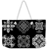 Coffee Flowers Ornate Medallions Bw 6 Peice Collage Weekender Tote Bag