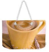 Coffee In Yellow Cup Weekender Tote Bag