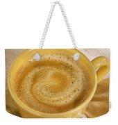 Coffee In Yellow Weekender Tote Bag