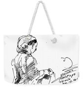Coffee Lady Weekender Tote Bag