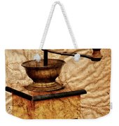 Coffee Mill And Beans In Grunge Style Weekender Tote Bag