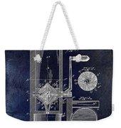Coffee Mill Patent 1893 Blue Weekender Tote Bag