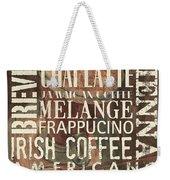 Coffee Of The Day 1 Weekender Tote Bag by Debbie DeWitt