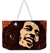 Coffee Painting Bob Marley Weekender Tote Bag