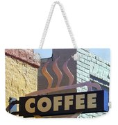 Coffee Shop Weekender Tote Bag