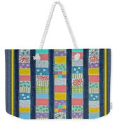 Coin Quilt -  Painting - Multicolors - Borders Weekender Tote Bag