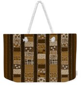 Coin Quilt - Painting - Sepia Patches Weekender Tote Bag