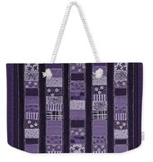 Coin Quilt -quilt Painting - Purple Patches Weekender Tote Bag