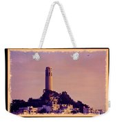 Coit Tower Poster Weekender Tote Bag