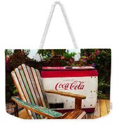 Vintage Coke Machine With Adirondack Chair Weekender Tote Bag