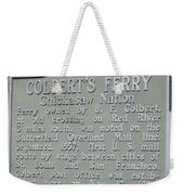 Colbert's Ferry Historical Sign Weekender Tote Bag