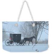 Cold Amish Morning Weekender Tote Bag