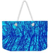 Cold Blue Weekender Tote Bag