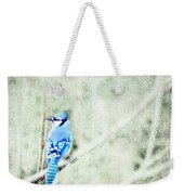 Cold Day For A Blue Jay Weekender Tote Bag