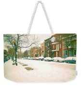Cold Day In Montreal Pointe St Charles Art Winter Cityscene Painting After Big Snowfall Psc Cspandau Weekender Tote Bag