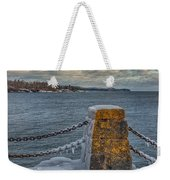 Cold Day On Superior Weekender Tote Bag