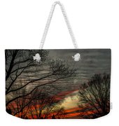 Cold Front Sunset Weekender Tote Bag