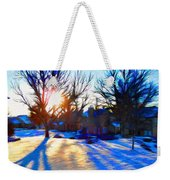 Cold Morning Sun Weekender Tote Bag by Jeff Kolker