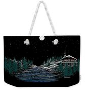 Cold Mountain Winter Weekender Tote Bag