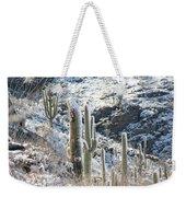 Cold Saguaros Weekender Tote Bag