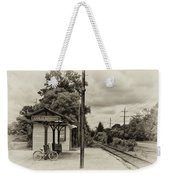 Cold Spring Train Station In Sepia Weekender Tote Bag