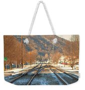 Cold Tracks Through Montgomery Weekender Tote Bag