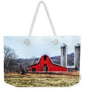 Cold Winter Day At The Farm Weekender Tote Bag