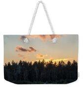 Cold Winter Sunset Weekender Tote Bag