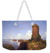Cole's Italian Coast Scene With Ruined Tower Weekender Tote Bag