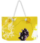 Collage In Yellow Weekender Tote Bag