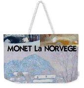 Collage Of Monet's Norwegian Works Weekender Tote Bag