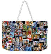 Collage Snowman Horz Photo Art Weekender Tote Bag