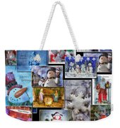 Collage Xmas Cards Vertical Photo Art Weekender Tote Bag