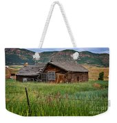 Collapsed Log House In Utah Weekender Tote Bag