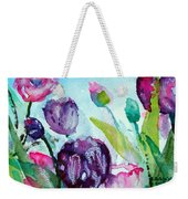 Collecting Pink And Purple Tulips Weekender Tote Bag