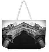 College Hall Entry - Black And White Weekender Tote Bag