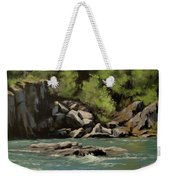 Colliding Rivers Weekender Tote Bag