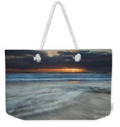 Colliding Tides Weekender Tote Bag by Mike  Dawson