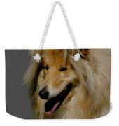Collie Dog Weekender Tote Bag