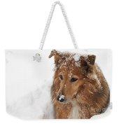 Collie In The Snow Weekender Tote Bag