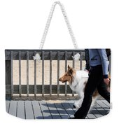 Collie Walk Weekender Tote Bag